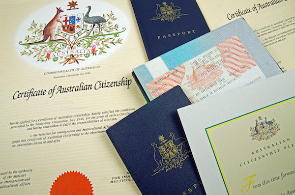 Dokumente zur australischen Staatsbürgerschaft
